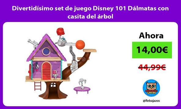 Divertidísimo set de juego Disney 101 Dálmatas con casita del árbol