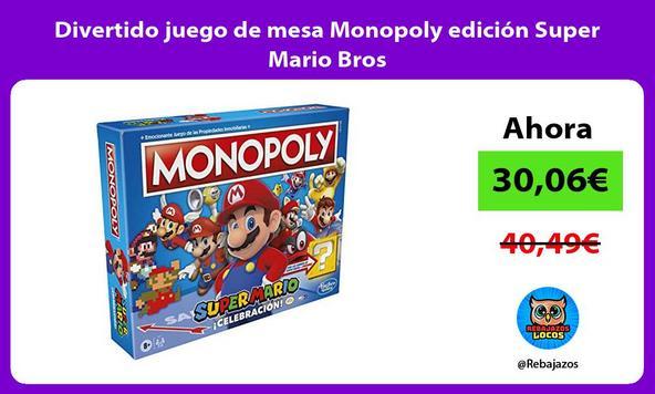 Divertido juego de mesa Monopoly edición Super Mario Bros