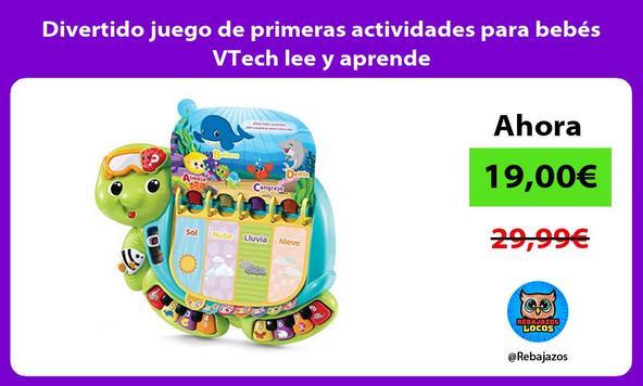 Divertido juego de primeras actividades para bebés VTech lee y aprende