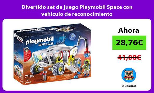 Divertido set de juego Playmobil Space con vehículo de reconocimiento
