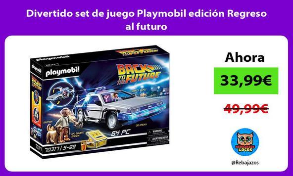 Divertido set de juego Playmobil edición Regreso al futuro