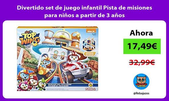 Divertido set de juego infantil Pista de misiones para niños a partir de 3 años