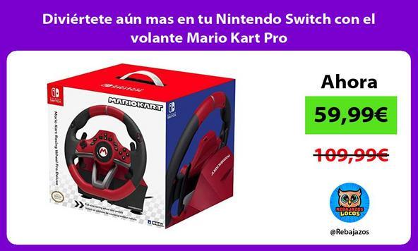 Diviértete aún mas en tu Nintendo Switch con el volante Mario Kart Pro