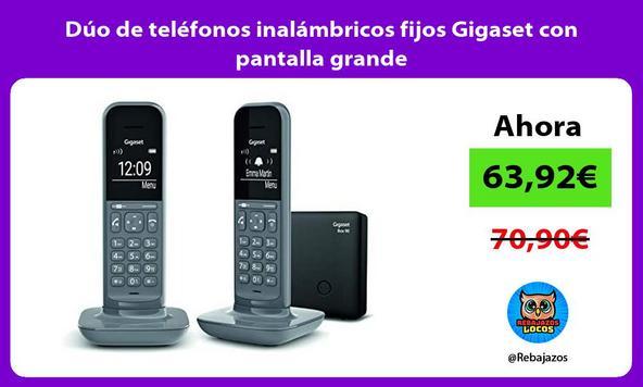 Dúo de teléfonos inalámbricos fijos Gigaset con pantalla grande