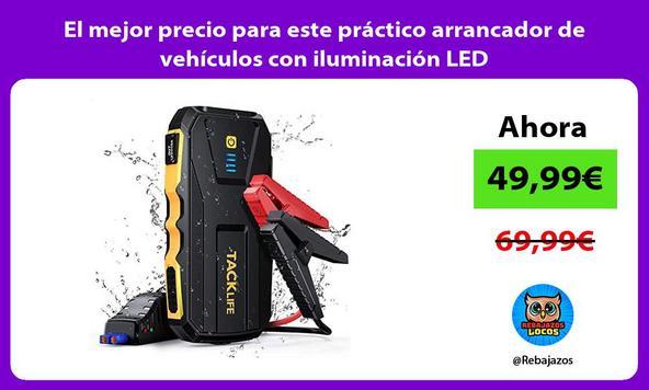 El mejor precio para este práctico arrancador de vehículos con iluminación LED