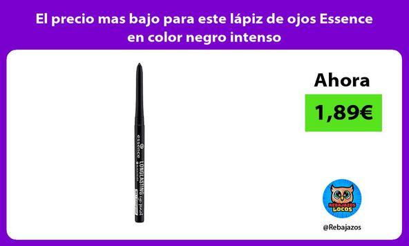 El precio mas bajo para este lápiz de ojos Essence en color negro intenso
