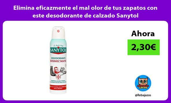 Elimina eficazmente el mal olor de tus zapatos con este desodorante de calzado Sanytol