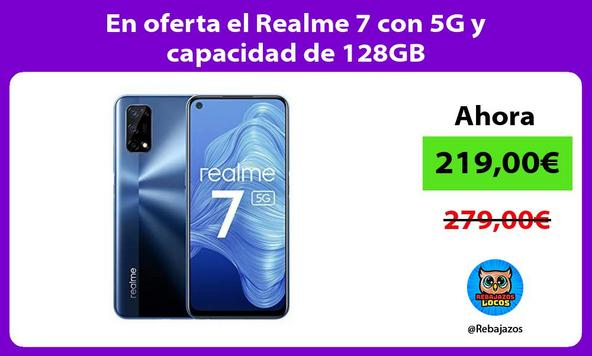 En oferta el Realme 7 con 5G y capacidad de 128GB