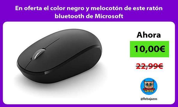 En oferta el color negro y melocotón de este ratón bluetooth de Microsoft