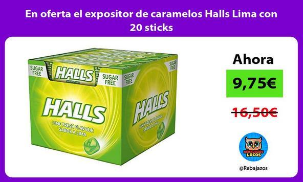 En oferta el expositor de caramelos Halls Lima con 20 sticks