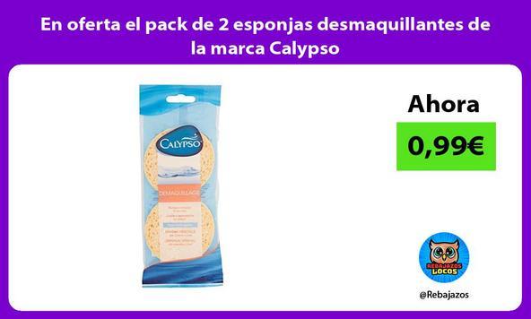 En oferta el pack de 2 esponjas desmaquillantes de la marca Calypso