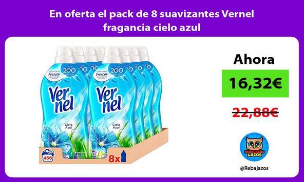 En oferta el pack de 8 suavizantes Vernel fragancia cielo azul
