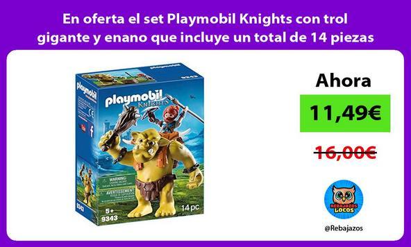 En oferta el set Playmobil Knights con trol gigante y enano que incluye un total de 14 piezas