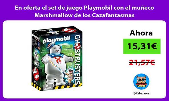 En oferta el set de juego Playmobil con el muñeco Marshmallow de los Cazafantasmas