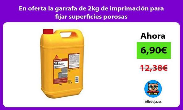 En oferta la garrafa de 2kg de imprimación para fijar superficies porosas