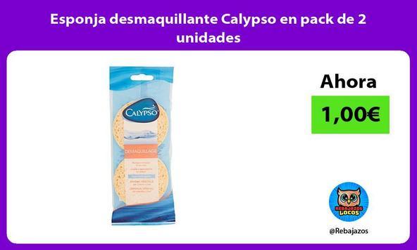 Esponja desmaquillante Calypso en pack de 2 unidades