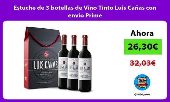 Estuche de 3 botellas de Vino Tinto Luis Cañas con envío Prime