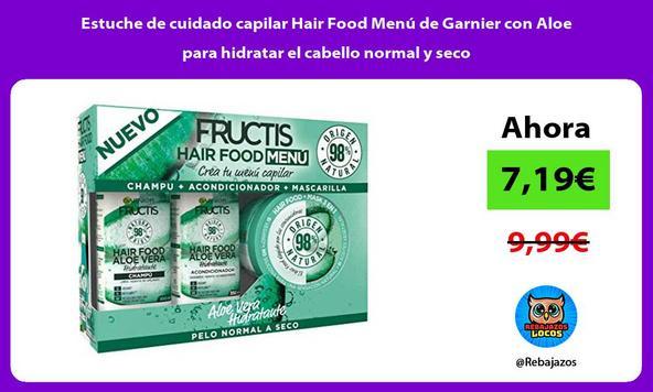 Estuche de cuidado capilar Hair Food Menú de Garnier con Aloe para hidratar el cabello normal y seco