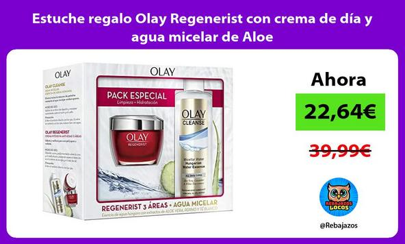 Estuche regalo Olay Regenerist con crema de día y agua micelar de Aloe
