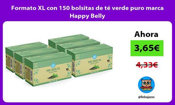 Formato XL con 150 bolsitas de té verde puro marca Happy Belly