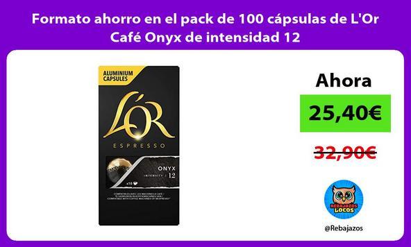 Formato ahorro en el pack de 100 cápsulas de L'Or Café Onyx de intensidad 12