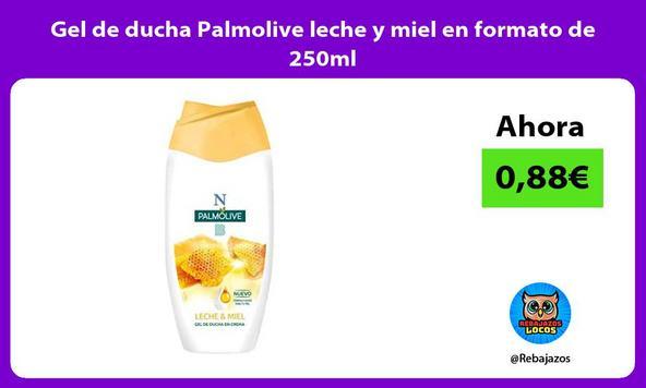 Gel de ducha Palmolive leche y miel en formato de 250ml