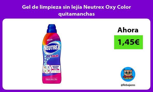 Gel de limpieza sin lejía Neutrex Oxy Color quitamanchas