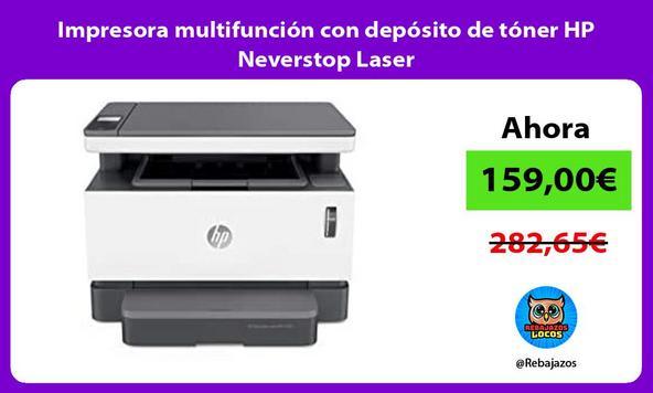 Impresora multifunción con depósito de tóner HP Neverstop Laser
