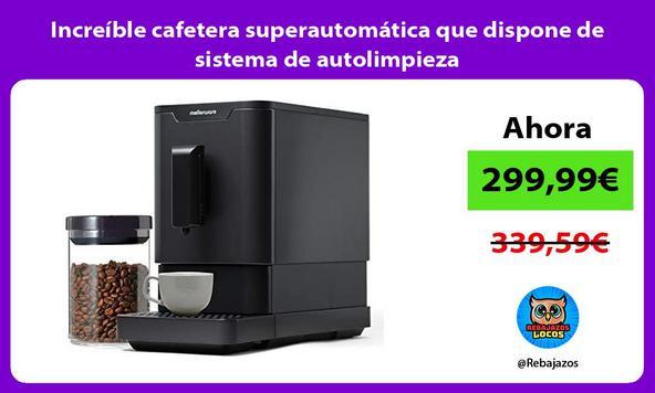 Increíble cafetera superautomática que dispone de sistema de autolimpieza