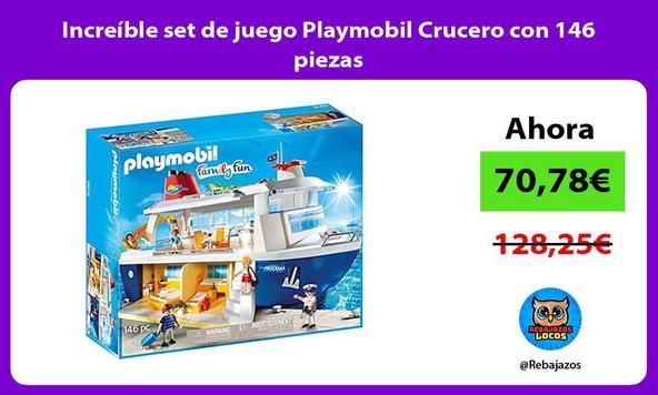 Increíble set de juego Playmobil Crucero con 146 piezas