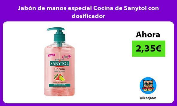 Jabón de manos especial Cocina de Sanytol con dosificador