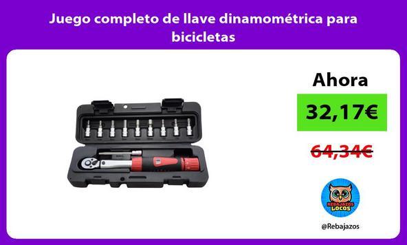 Juego completo de llave dinamométrica para bicicletas