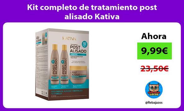 Kit completo de tratamiento post alisado Kativa