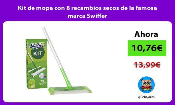 Kit de mopa con 8 recambios secos de la famosa marca Swiffer