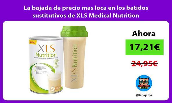 La bajada de precio mas loca en los batidos sustitutivos de XLS Medical Nutrition