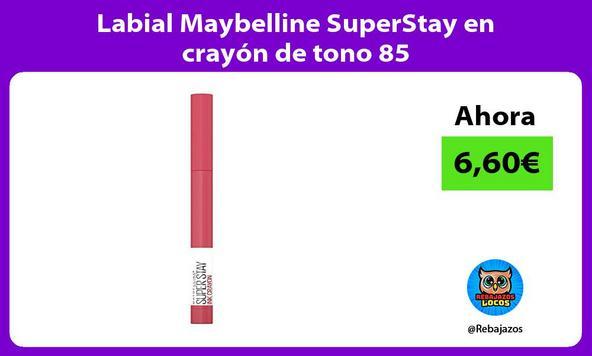 Labial Maybelline SuperStay en crayón de tono 85