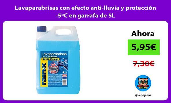 Lavaparabrisas con efecto anti-lluvia y protección -5ºC en garrafa de 5L