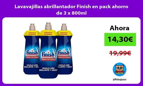 Lavavajillas abrillantador Finish en pack ahorro de 3 x 800ml