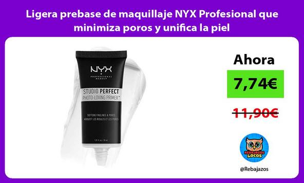 Ligera prebase de maquillaje NYX Profesional que minimiza poros y unifica la piel
