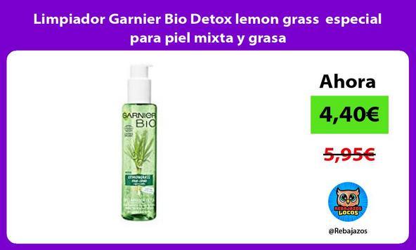Limpiador Garnier Bio Detox lemon grass especial para piel mixta y grasa