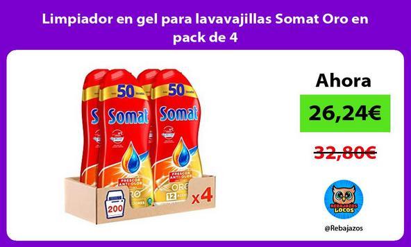 Limpiador en gel para lavavajillas Somat Oro en pack de 4