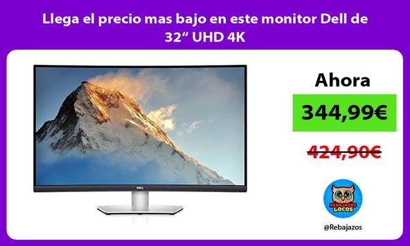 """Llega el precio mas bajo en este monitor Dell de 32"""" UHD 4K"""