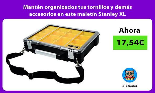 Mantén organizados tus tornillos y demás accesorios en este maletín Stanley XL