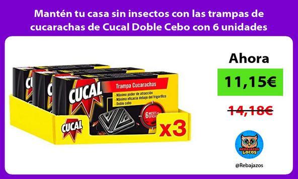 Mantén tu casa sin insectos con las trampas de cucarachas de Cucal Doble Cebo con 6 unidades