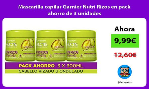 Mascarilla capilar Garnier Nutri Rizos en pack ahorro de 3 unidades