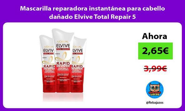 Mascarilla reparadora instantánea para cabello dañado Elvive Total Repair 5