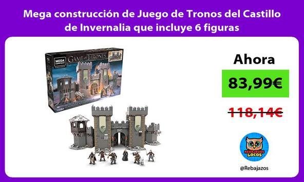 Mega construcción de Juego de Tronos del Castillo de Invernalia que incluye 6 figuras