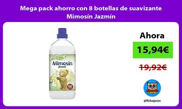 Mega pack ahorro con 8 botellas de suavizante Mimosín Jazmín