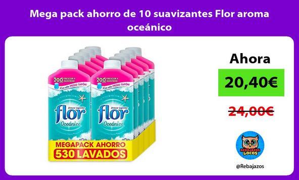 Mega pack ahorro de 10 suavizantes Flor aroma oceánico