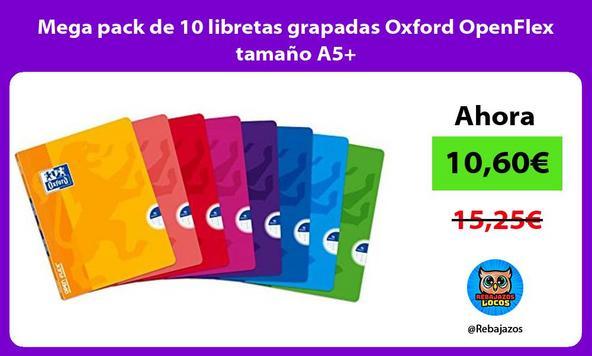 Mega pack de 10 libretas grapadas Oxford OpenFlex tamaño A5+